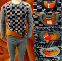 便宜保暖套装夜市甩卖加绒加厚保暖内衣套装批发