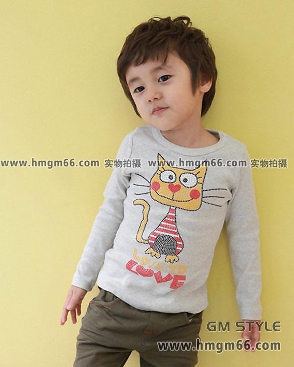 女童男童上衣中小童热销T恤现货批发市场