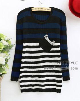 上海杭州最便宜女装迷你学生绣花毛衣批发