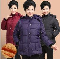 广州便宜一手货源中老年棉服时尚棉衣低价批发