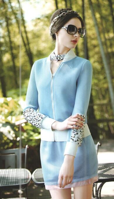 2014新款春装朗诗莉杭州品牌女装折扣批发