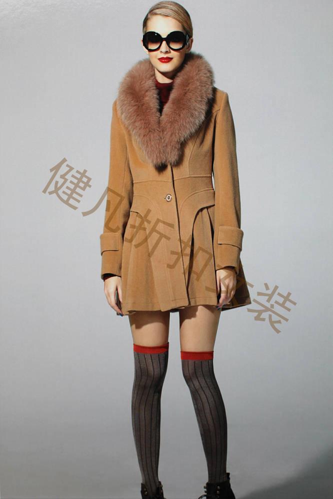 羊绒大衣冬装品牌库存尾货折扣批发