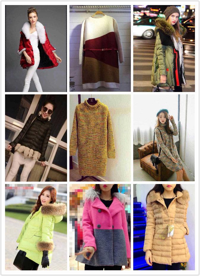 一手货源冬季时尚女装棉衣便宜批发