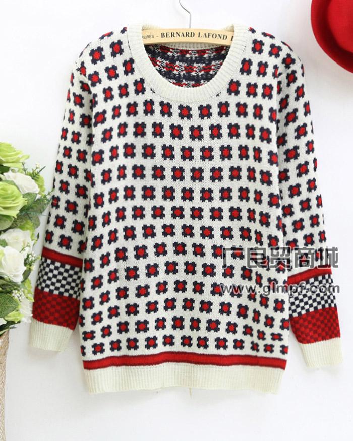 时尚女式韩版加厚毛衣冬季新款套头打底毛衣批发