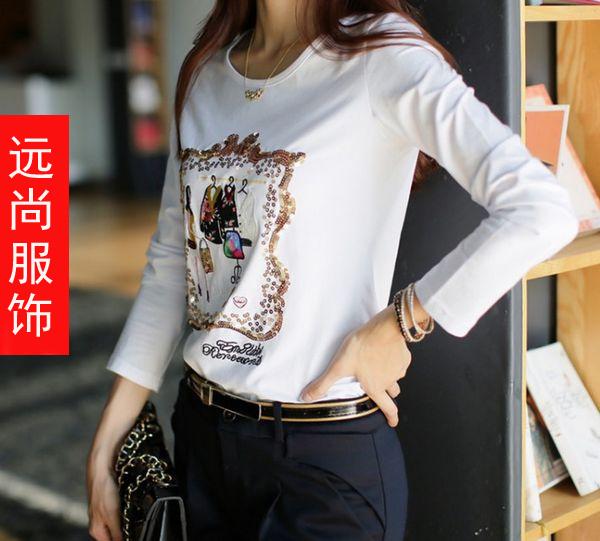 便宜紧身踩脚打底裤今年最时尚的长袖t恤批发春季供应