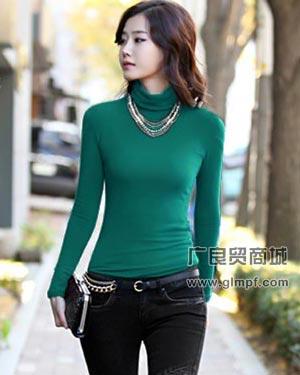韩版全棉长袖女装T恤衫批发