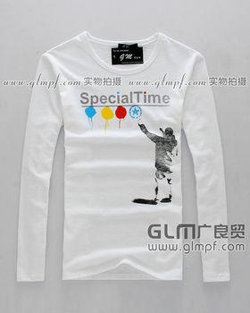 时尚韩版男士印花T恤衫批发