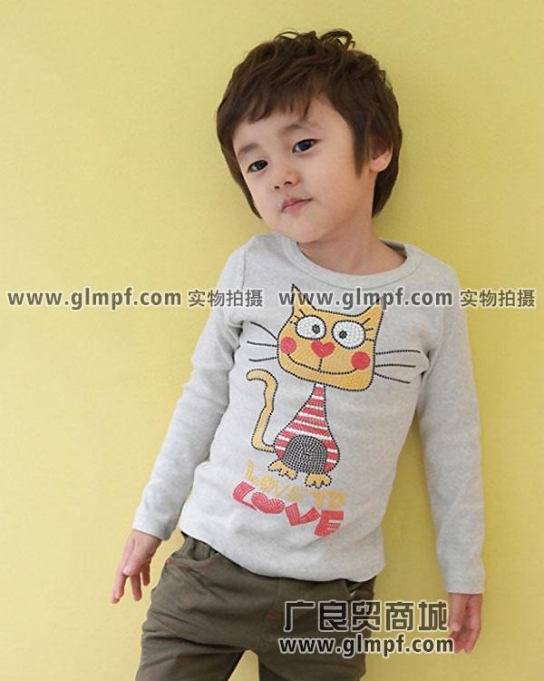 虎门时尚服装小孩看得上的纯棉卡通童装T恤批发
