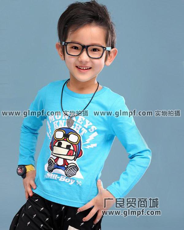 小孩韩版上衣衫女童上衣男童上衣现货T恤批发