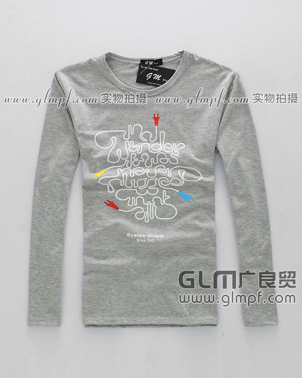北京天津男装长袖T恤批发