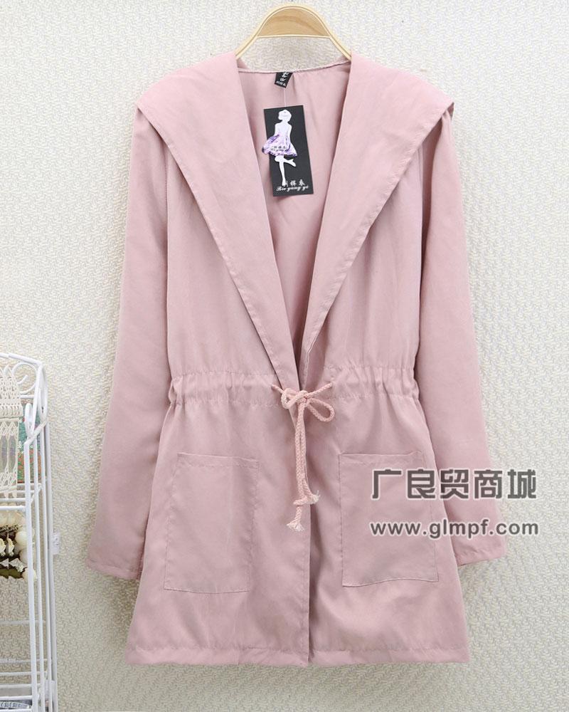 厂家直销时尚风衣春季女风衣冬装保暖女式韩版风衣外套