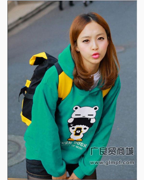印花好看的T恤时尚长袖韩版卫衣春季女装批发