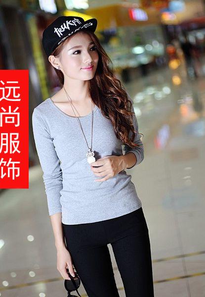 服装厂家批发物美价廉系列品牌尾货长袖T恤