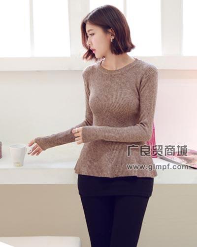 时尚女式韩版加厚保暖针织毛衫批发女