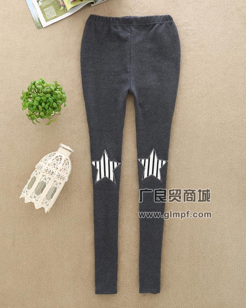 时尚韩版假两件保暖美腿裤春季新款加厚绒女裤批发
