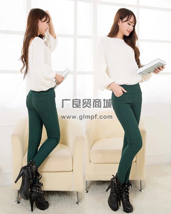 加绒铅笔裤春季保暖长裤冬装弹力加厚绒保暖女裤批发