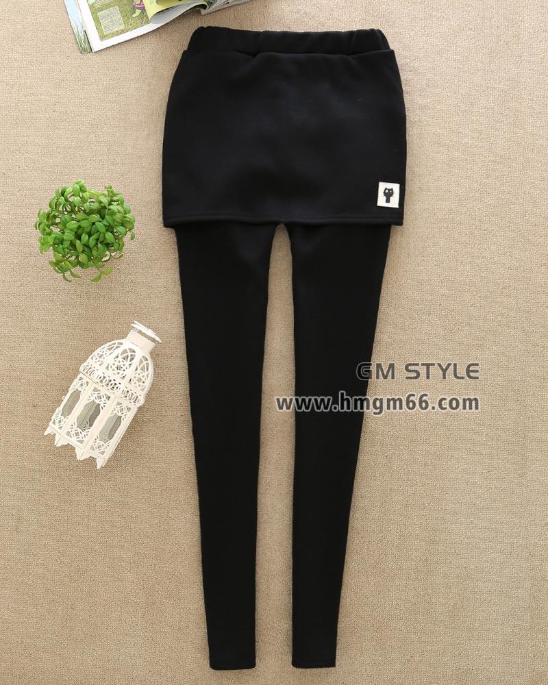 假两件保暖美腿裤春季新款加厚绒女裤冬装保暖裙裤批发