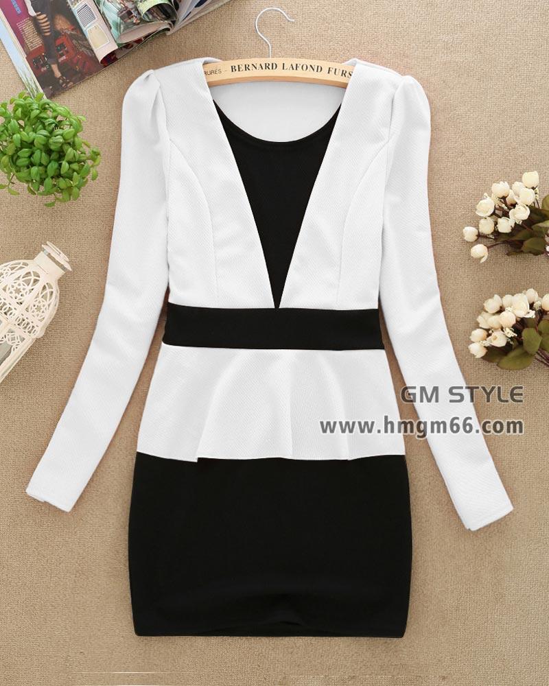 新款女装韩版修身精品中长款打底裙批发