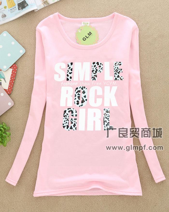 韩版春季女装T恤长袖小衫批发