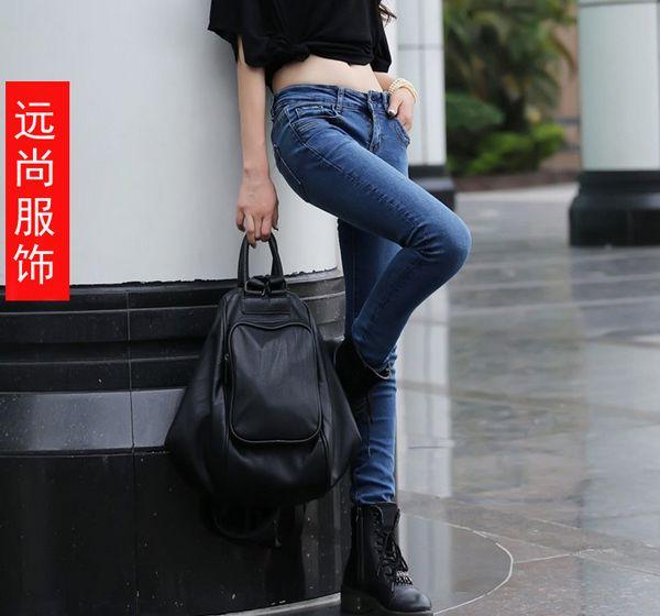 今年时尚韩版牛仔裤服装2015最畅销的连衣裙批发