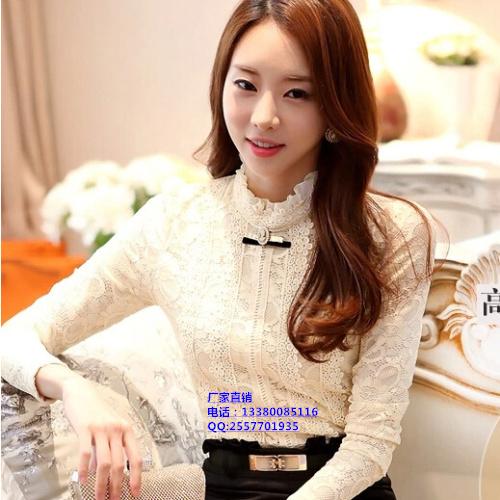 广州十三行长袖蕾丝T恤打底衫批发市场