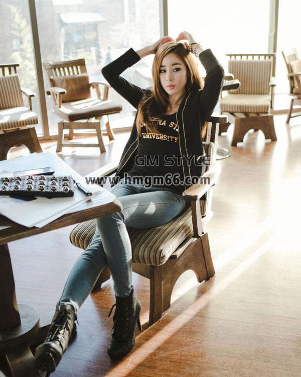 时尚韩版潮流热卖T恤长款弹力T恤衫批发