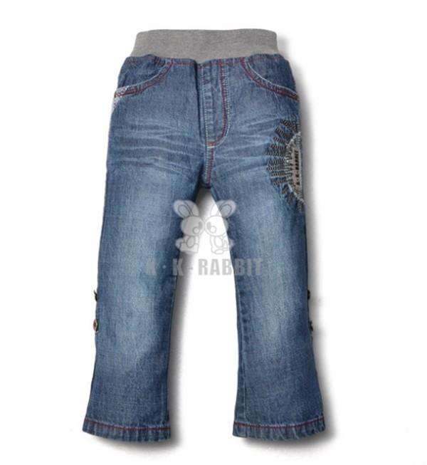 概能童装贸易公司供应耐用的儿童牛仔长裤