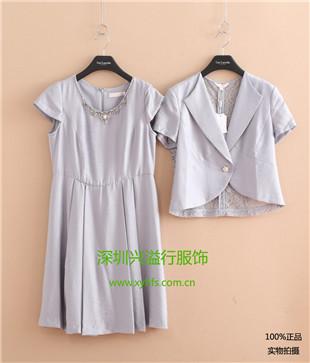 深圳中高端品牌折扣女装莱维娜羊绒大衣棉衣库存批发