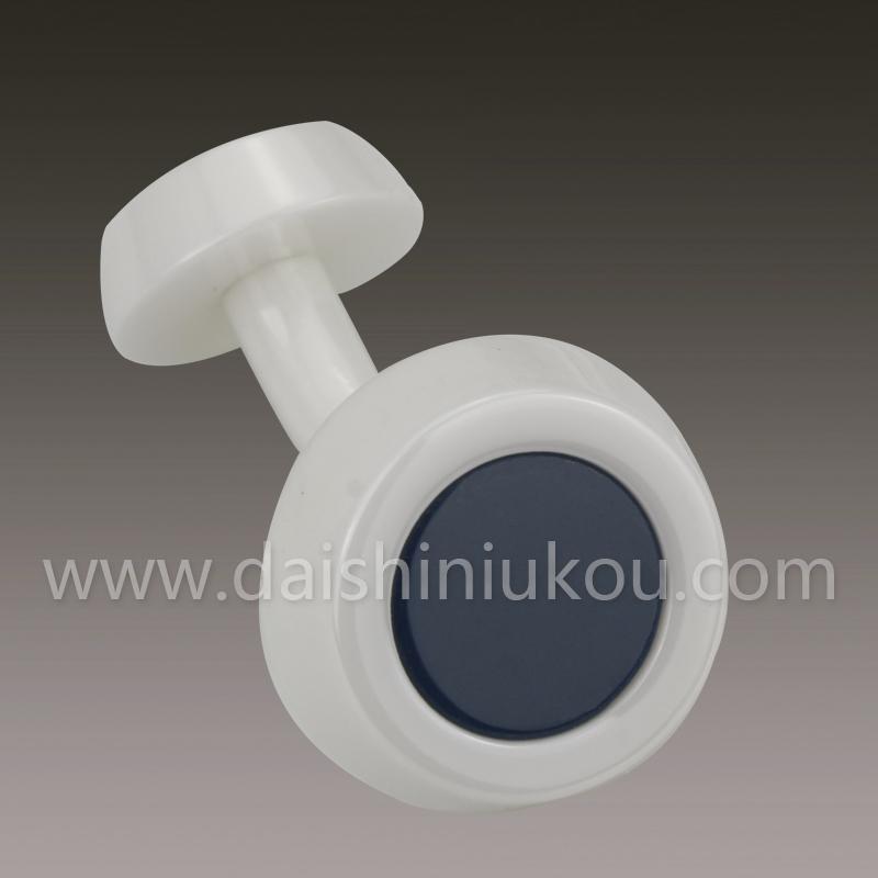 陶瓷袖扣WD-596-27W白色高级陶瓷袖扣镶蓝色陶瓷厂家供应