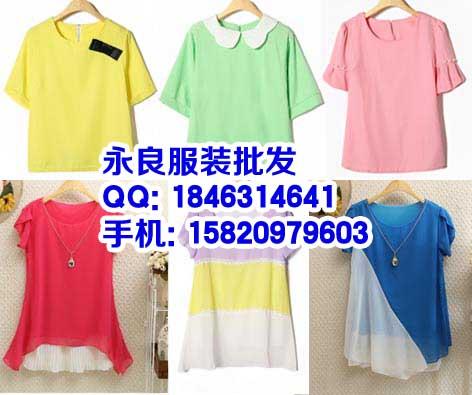 上海今夏时尚日系甜美蕾丝喇叭袖雪纺上衣批发
