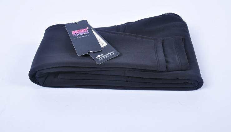 高腰黑色光面女士保暖打底裤低价批发