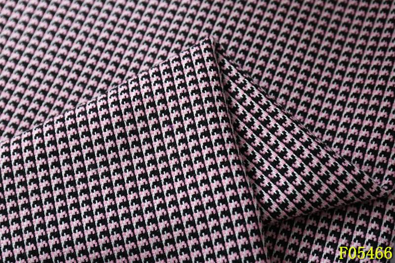 柯桥时尚女装色织提花面料厂F05466厂家供应