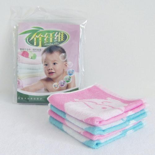 乐林雅纺织竹纤维提花儿童毛巾