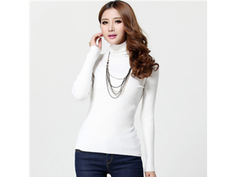 秋冬新款韩版纯色毛衣针织衫打底衫女装批发