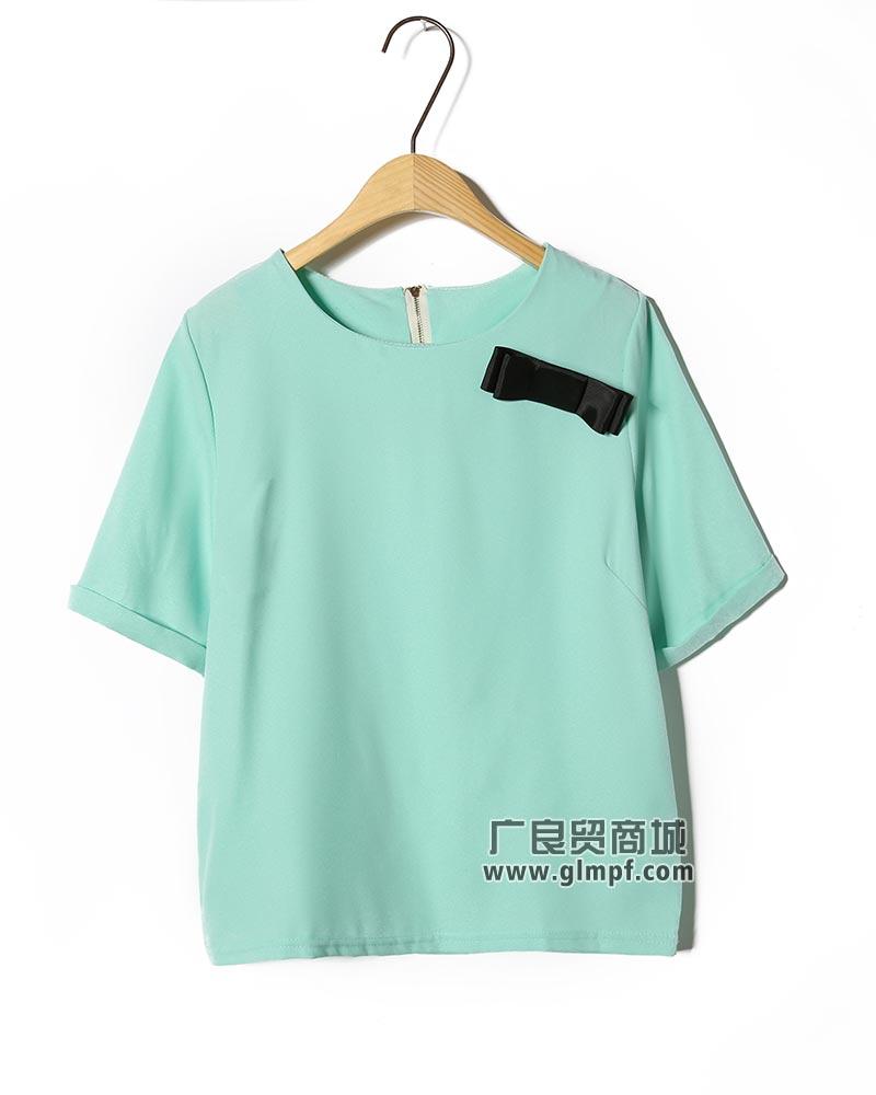 广东新款无袖蕾丝边袖雪纺衫搭配打底裤超级显瘦款雪纺中长款上衣批发
