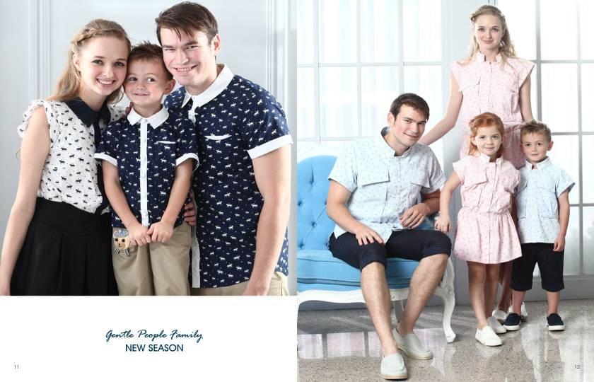上流家族亲子装品牌2015年春夏系列产品亲子装诚邀加盟