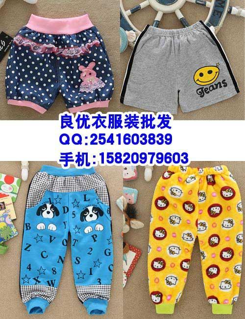 漳州休闲夏季纯色童装短裤批发
