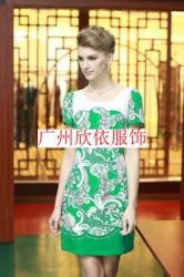 西子恋2014大版夏装连衣裙杭州折扣女装供应