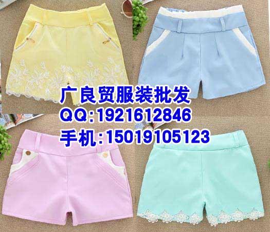 夏季女装短裤批发