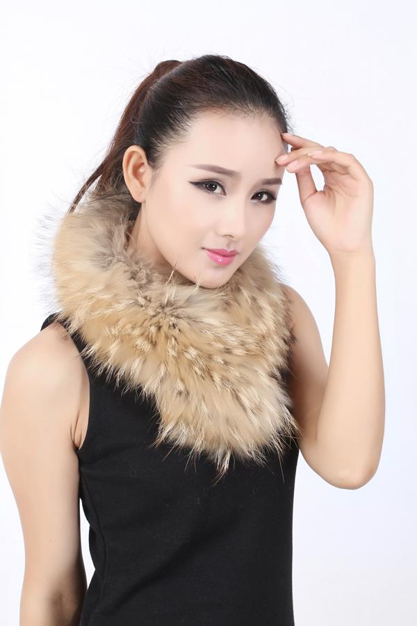 最优惠的真貉子毛领冬季皮草围巾批发
