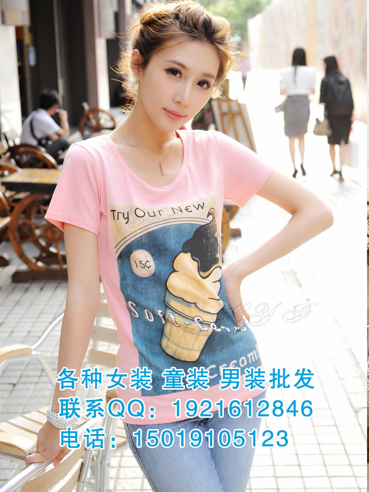 北京卡通女士T恤批发