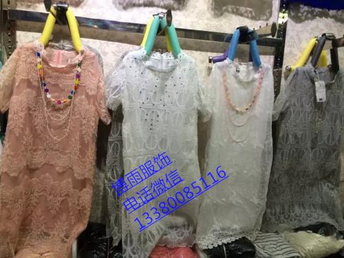 广州沙河十三行时尚蕾丝长裙批发