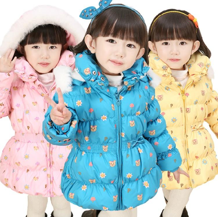优质的中长款女童羽绒服批发供应
