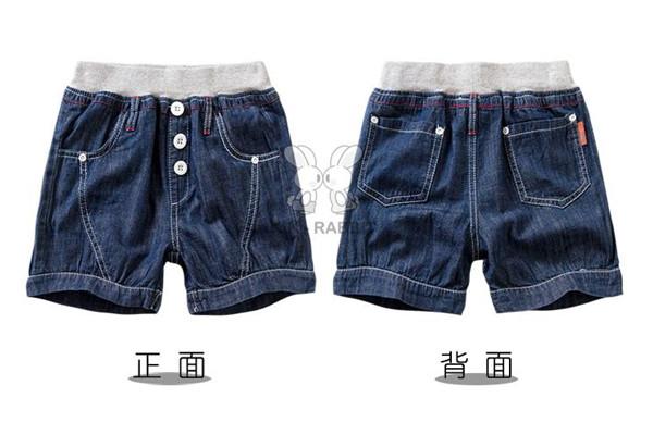 儿童牛仔女童短裤批发