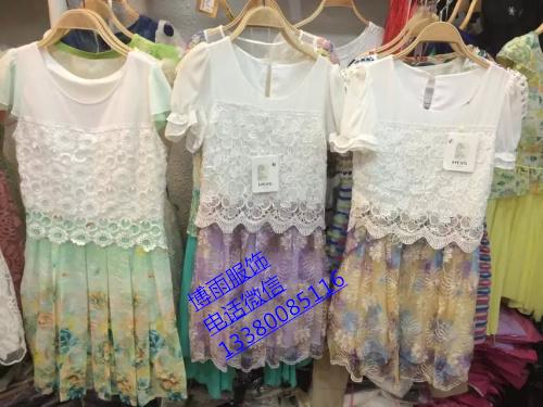 十三行厂家直销时尚韩版蕾丝连衣裙批发