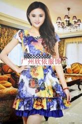 广州现货品牌折扣女装走份尽在欣依服饰