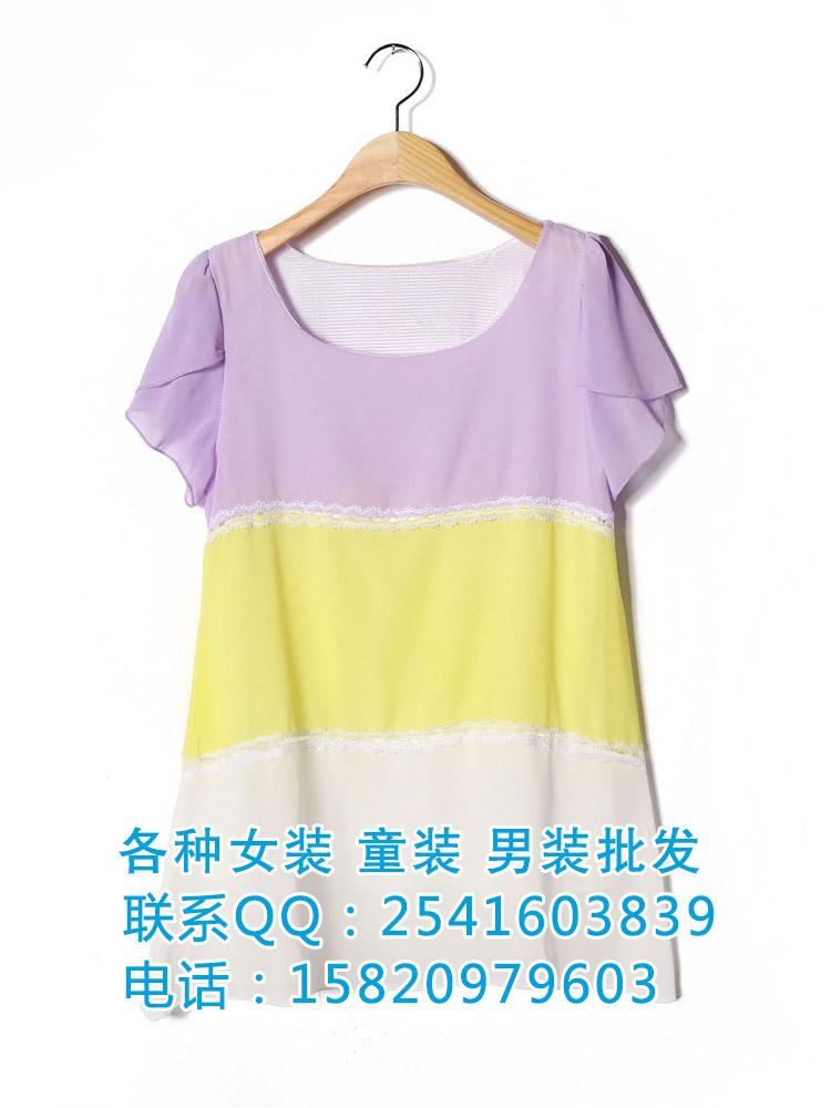 四川时尚夏季雪纺上衣批发
