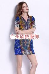 折扣女装广州深圳品牌夏装尾货批发