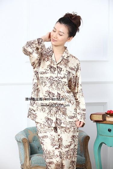 女士絲綢睡衣廠家供應