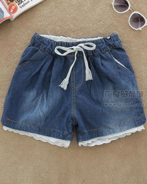 今夏新款洗水修身短裤批发